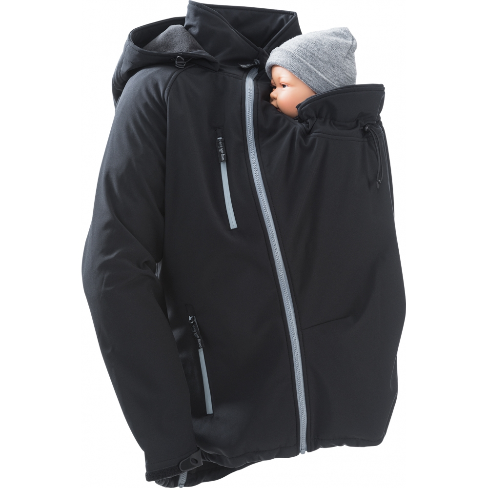 softshell babywearing jacket for men 1 4