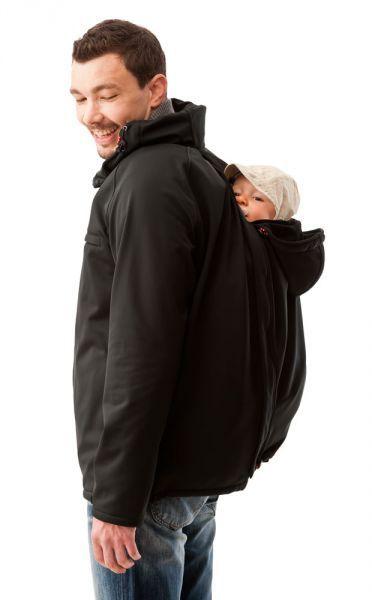 Outdoor jacke babyeinsatz