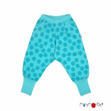 Manymonths_Eco_Hempies_Slouchy_Trousers_BigDots_Turquoise
